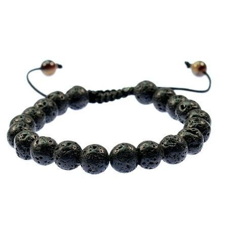 Fashion Jewelry Lava Stone Macrame Style Bracelet Good for Healing and Energy- 91006 - Macrame Bracelet Instructions