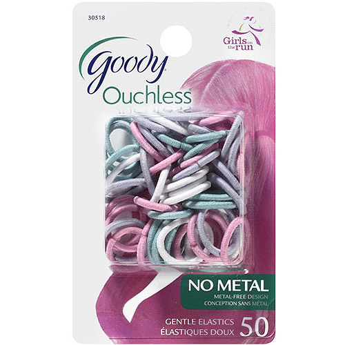 Goody Ouchless No Metal Gentle Elastics, 50 count