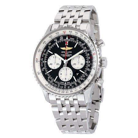 Breitling Navitimer 1 Black Dial Stainless Steel Men's Watch AB012721.BD09.443A