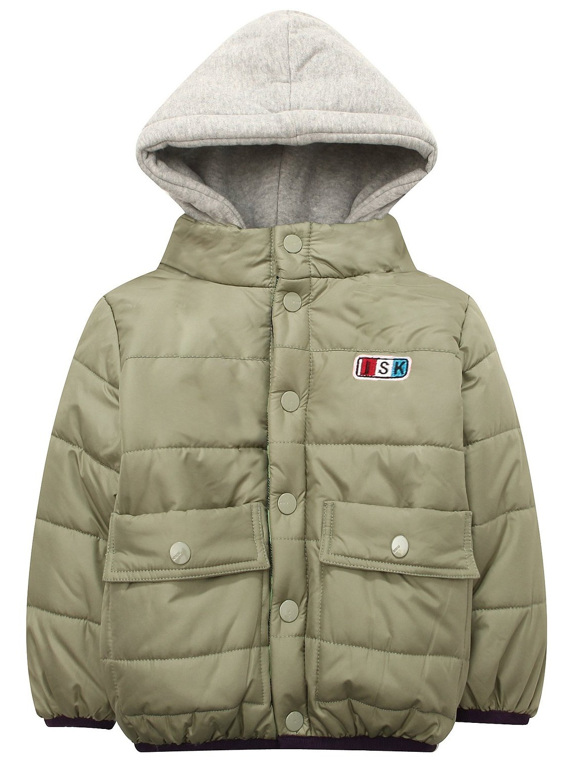 Richie House Boys' Green Padding Jacket with Attached Hood RH1328