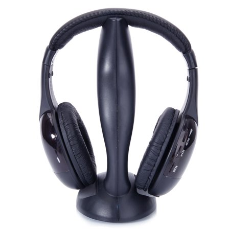 Ktaxon 8 in 1 Wireless Hi-Fi Headphones Stereo Headset FM Radio For TV PC CD MP3
