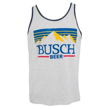 Busch Men's Grey Mountain Logo Tank Top-Small Mountain Hardwear Mens Tank Top
