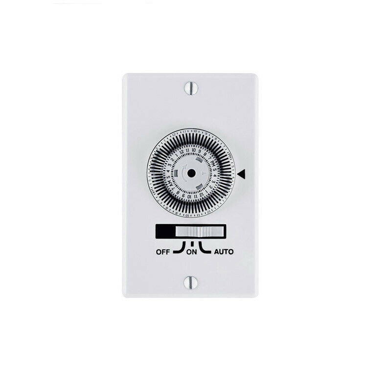 Prime Indoor 24 Hour Mechanical Timer 120 volt White