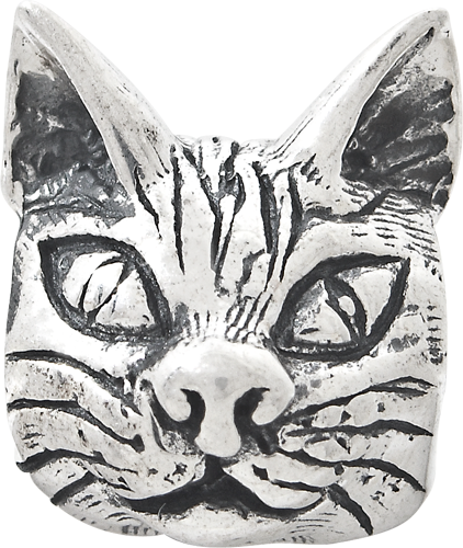 925 Sterling Silver Charm For Bracelet Maine Coon Cat Head Bead Animal Fine Jewelry Gifts For Women For Her - image 1 de 4