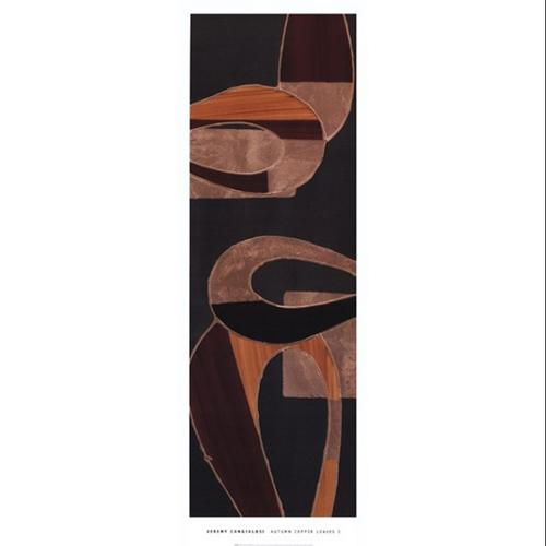 Autumn Copper Leaves I Poster Print by Jeremy Cangialosi (14 x 39)