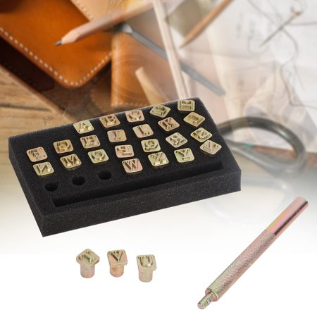 LAFGUR 6mm Metal Letters DIY Leather Stamper Punching Tool Stamp Alphabet Die Tool Craft, Stamp Punch, Letter Punch