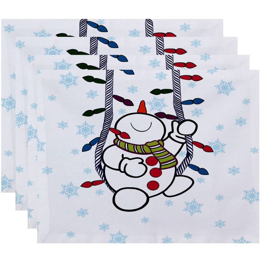 """Simply Daisy 18"""" x 14"""" Winter Whimsy Geometric Print Placemat"""