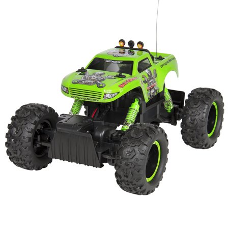 Best Choice Products Powerful Remote Control Truck Rc Rock Crawler  4X4 Drive   Monster Wheels Green