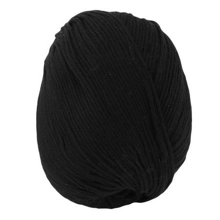 Acrylic Fiber Hat Scarf Handicraft Gift Knitting Needle Weaving Yarn Black 50g ()