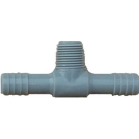 Genova Products 351440 Pipe Fitting, Poly MPT Insert Tee, 1-In. - Quantity 1