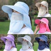 Women Adjustable Summer Anti-Ultraviolet Large Hat Sun Visor Protective Hat