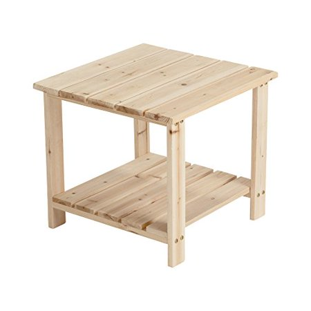 Unfinished Wood End Table (Unfinished Fir Wood 2-Tier End/Side Table )