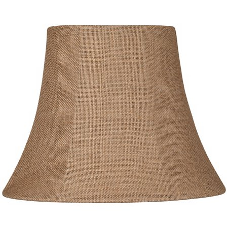 Brentwood Natural Burlap Small Oval Lamp Shade 6/8x11/14x11 (Spider)