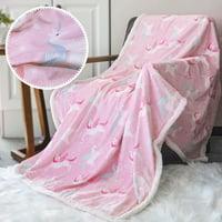 WeGuard Sherpa Baby Blanket Nursery Receiving Super Soft Warm Ultra Luxurious Minky Blanket Pink Unicorn for Babies Toddles Children Boys Girls Adult - Pink
