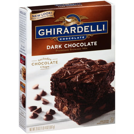 (3 Pack) Ghirardelli Dark Chocolate Brownie Mix, 20-Ounce Box - Halloween Chocolate Brownies
