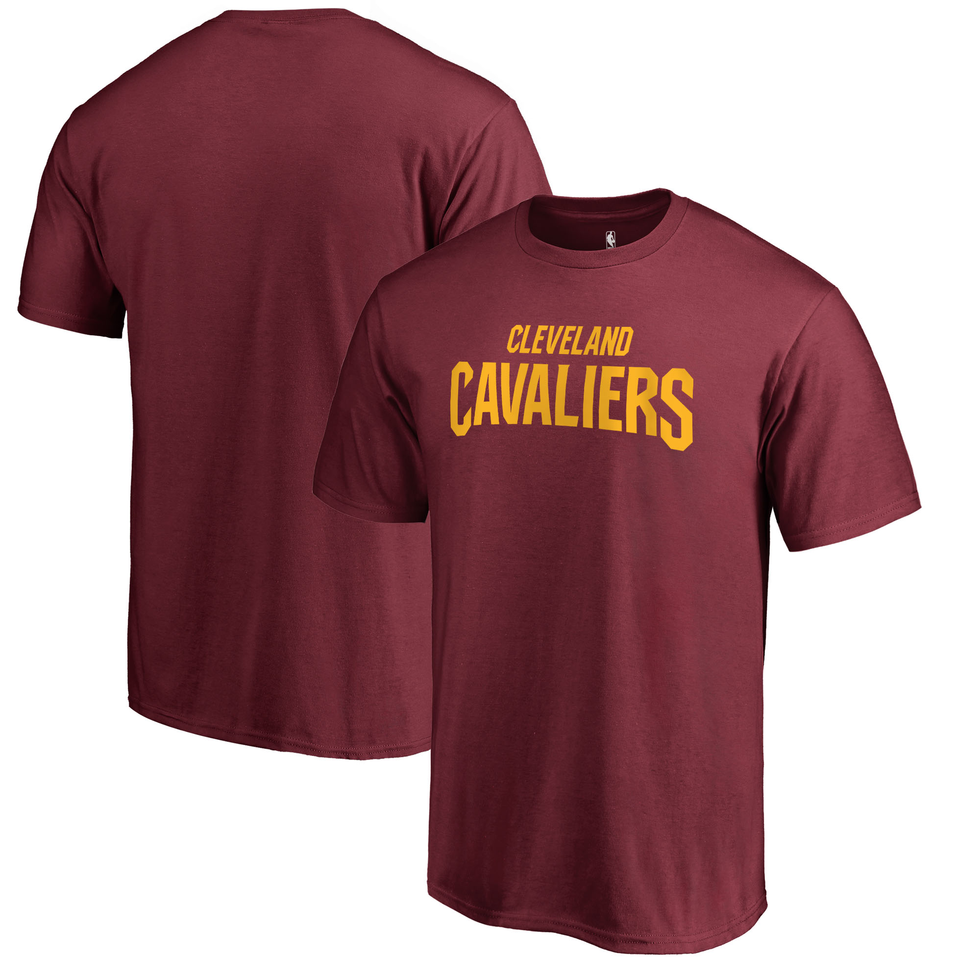 Cleveland Cavaliers Fanatics Branded Primary Wordmark Big and Tall T-Shirt - Wine