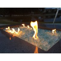 "Crystal Teal Fire Pit Glass Rocks, 1/2""-1"", 10 lbs"