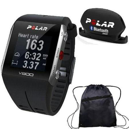 V800 GPS Sports Watch with Bluetooth Cadence Sensor and Bag Black