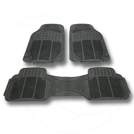 Fit Ford Floor Mat Rubber Carpet 3pcs All Weather Waterproof Deep Dish Protect For Crown Victoria E-150 E-150 Club Wagon