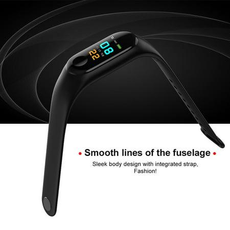 Waterproof Pedometer M3 Smart Bracelet Message Remind health Monitoring Watch - image 5 de 5