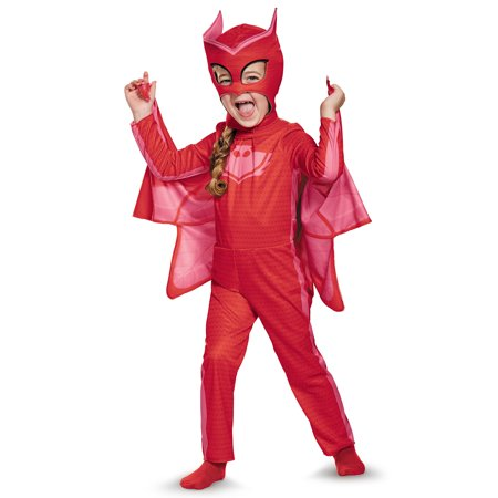 PJ Masks Owlette Classic Costume for Toddler - Lady Of The Night Costume