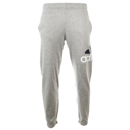 2690b58a5cee2 Adidas Essentials Performance Logo Pants - Medium Grey Heather/White/Black  - Mens - XL - Walmart.com