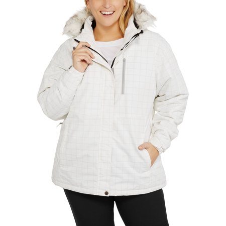 cb9af7a8d1d Iceburg - Women s Plus-Size Insulated Ski Jacket With Removable Hood -  Walmart.com