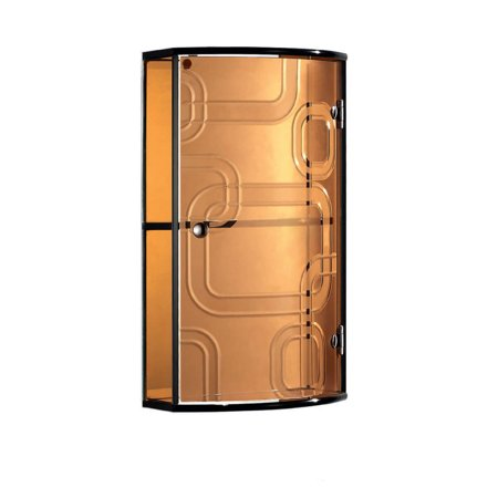 Crystal Bronze Glass Cabinet For Bathroom Accessories Storage With Two Tiers ()