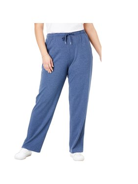 Woman Within Plus Size Sport Knit Straight Leg Pant Pants