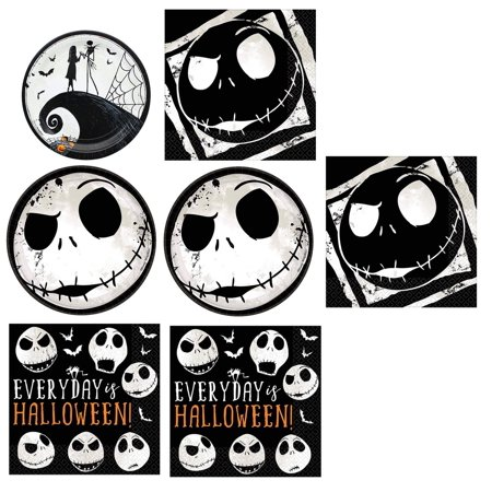 Nightmare Before Christmas Bundle: 32x Plates, 32x Lunc/ 16x Beverage Napkins](This Is Halloween Nightmare Before Christmas Cover)