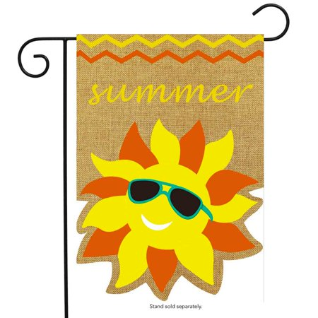 Summer Sunface Burlap Garden Flag Seasonal Sunshine 12.5