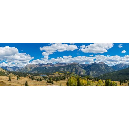 Landscape Route - Elevated view of trees on landscape from Molas Pass on U.S. Route 550, Silverton, San Juan Mount... Print Wall Art