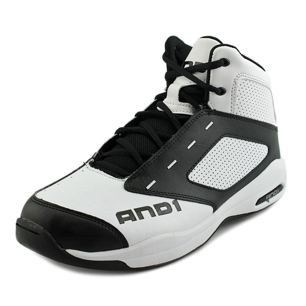 AND1 Typhoon Men  Round Toe Leather White Basketball Shoe