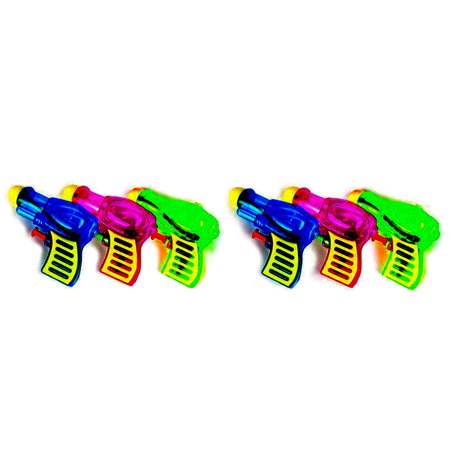 6pcs Plastic Water Squirt Gun Pistol for Kids Watering Game (Random Color and Type)