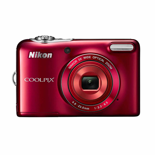 Nikon Red COOLPIX L30 Digital Camera with 20.1 Megapixels and 5x Optical Zoom