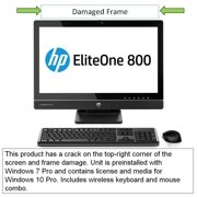 """HP EliteOne G1 Touch 23"""" Touchscreen All-in-One Desktop PC with Intel Quad-Core i5-4670S Processor (3.2 GHz), 4GB DDR3 RAM, 500GB HDD and Windows 7 Professional 64-bit, ELITEONE800 (Pre-Owned)"""