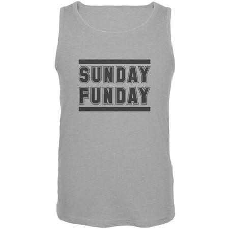 9c672a0ecf834 Tee s Plus - Sunday Funday Heather Grey Adult Tank Top - Walmart.com