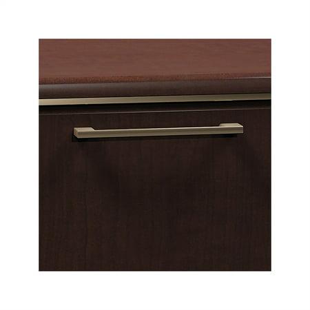 Bush Enterprise 72W Double Pedestal Desk Office Suite in Mocha Cherry - image 3 de 7