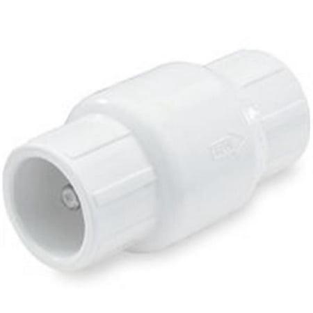 NDS 1011-05 Check Valve, 1/2 in Slip Joint, 200 psi, PVC 1/2 Pvc Slip Joint