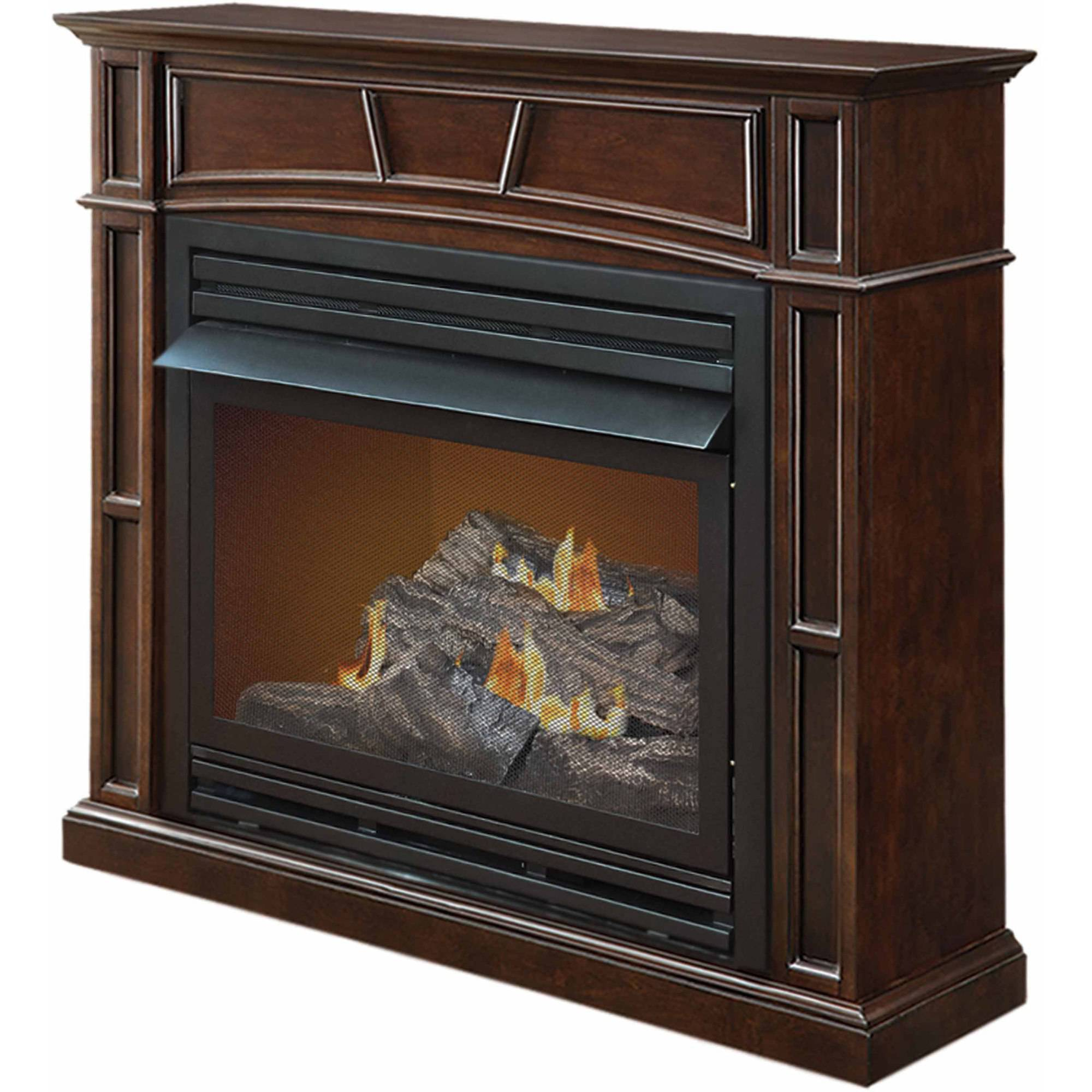 "Pleasant Hearth VFF-PH32DR 46"" Full Size Tobacco Vent-Free Fireplace System, 32,000 BTUs"