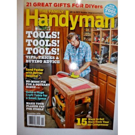 brand new the family handyman magazine 1 in diy home improvement nov 2016. Black Bedroom Furniture Sets. Home Design Ideas