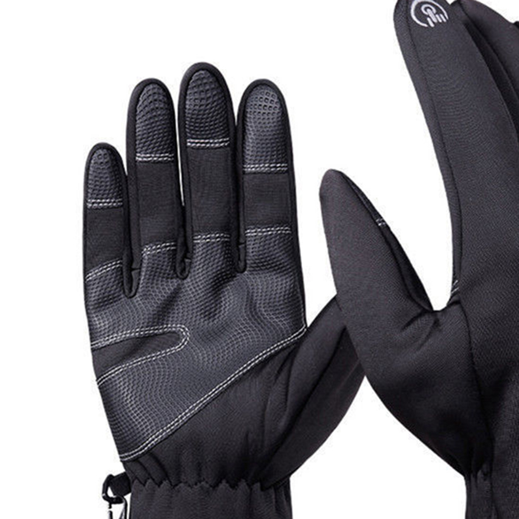 Mens Winter Weatherrproof Outdoor Sports Ski Thermal Insulation Nonslip Gloves