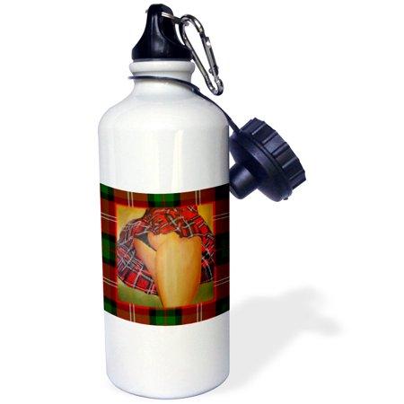 3dRose Tart In Kilt - Tartan kilt, tartan, red, christmas, new year, hogmanay, scotland, Sports Water Bottle, 21oz