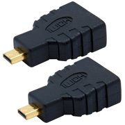 CyberTech 2-Pack Micro HDMI Male Connector to HDMI Female Converter Adapter