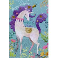 Pictura Unicorn with Crown Sanja Rescek Birthday Card For Sister