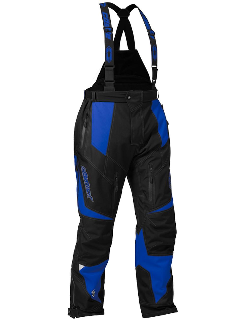Castle X Racewear Fuel G6 Mens Snowmobile Bibs Blue by