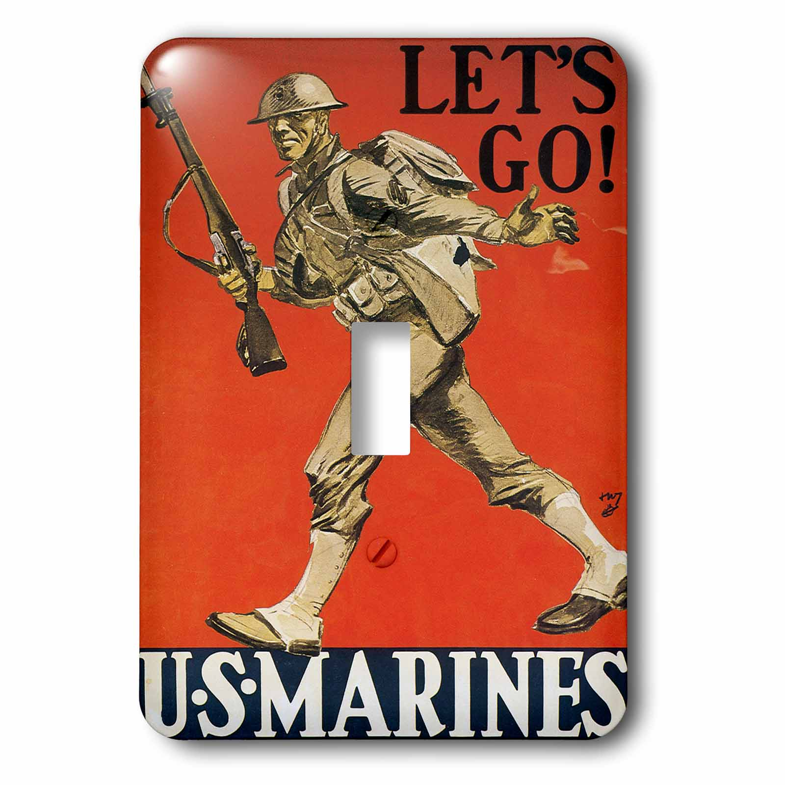 3dRose Vintage Lets Go US Marines Recruiting Poster, 2 Plug Outlet Cover