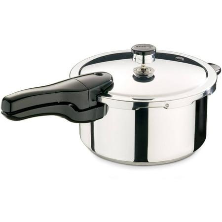- Presto 4-Quart Stainless Steel Pressure Cooker 01341