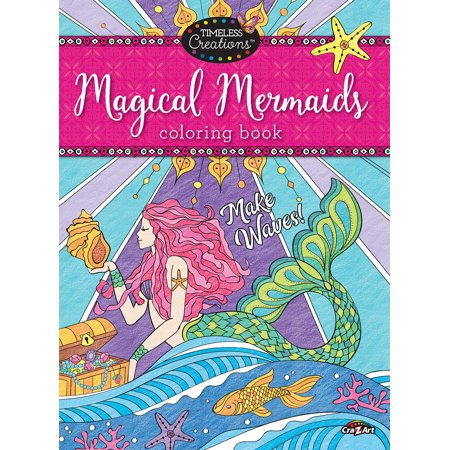 Timeless Creations Magical Mermaids 64 Page Premium Quality Adult Coloring Book By - Coloring Pages Halloween Printable