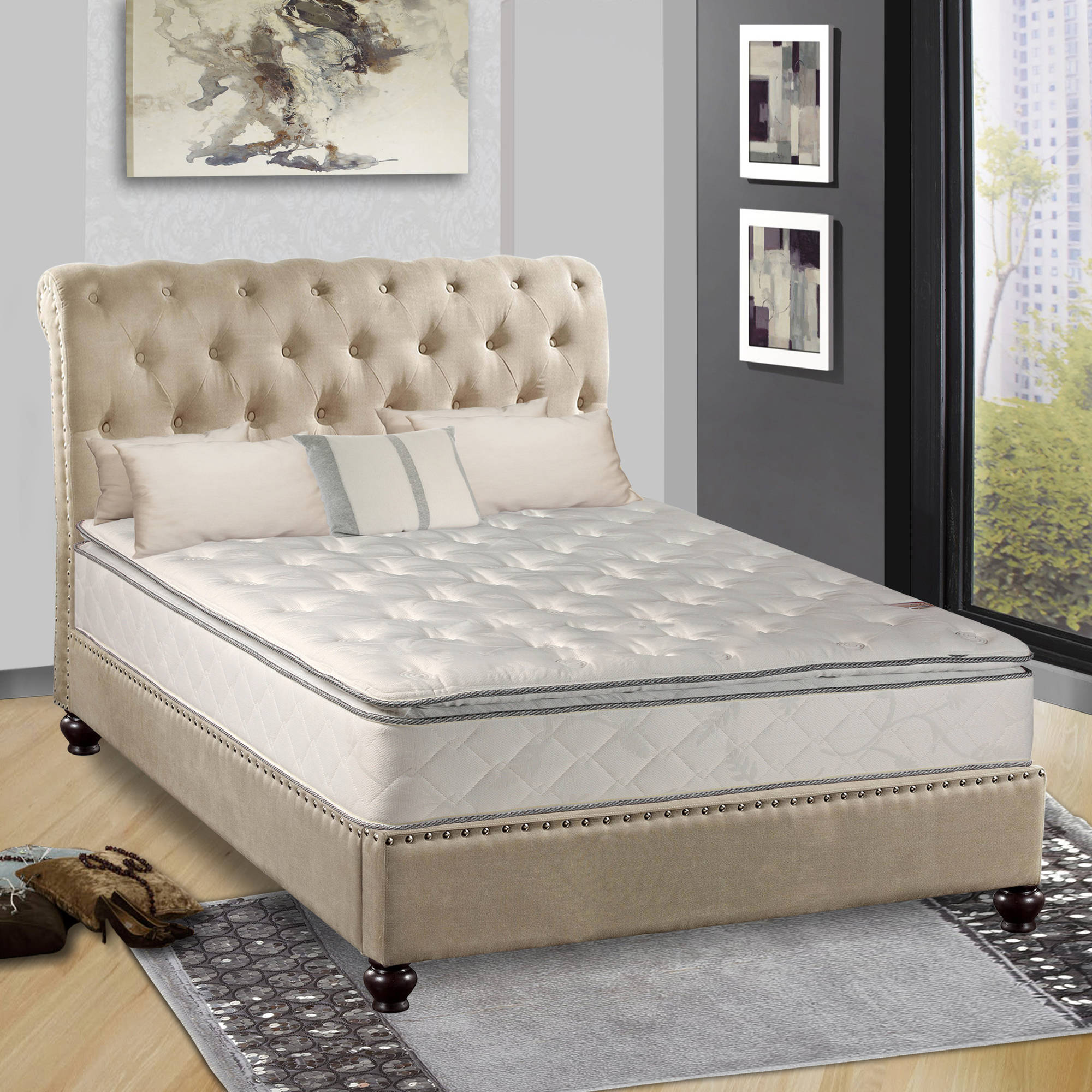 "Pillow Top, Orthopedic 10"" Fully Assembled Mattress, Multiple Sizes"